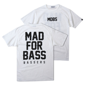 [MAD FOR BASS]Signature S/S tshirt(white)