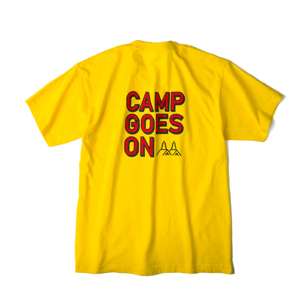 CAMP GOES ONS/S T-Shirts(Yellow)