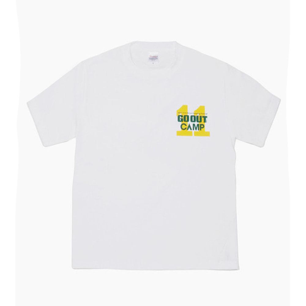 11th GOOUT CAMPS/S T-Shirts(White) 30% OFF