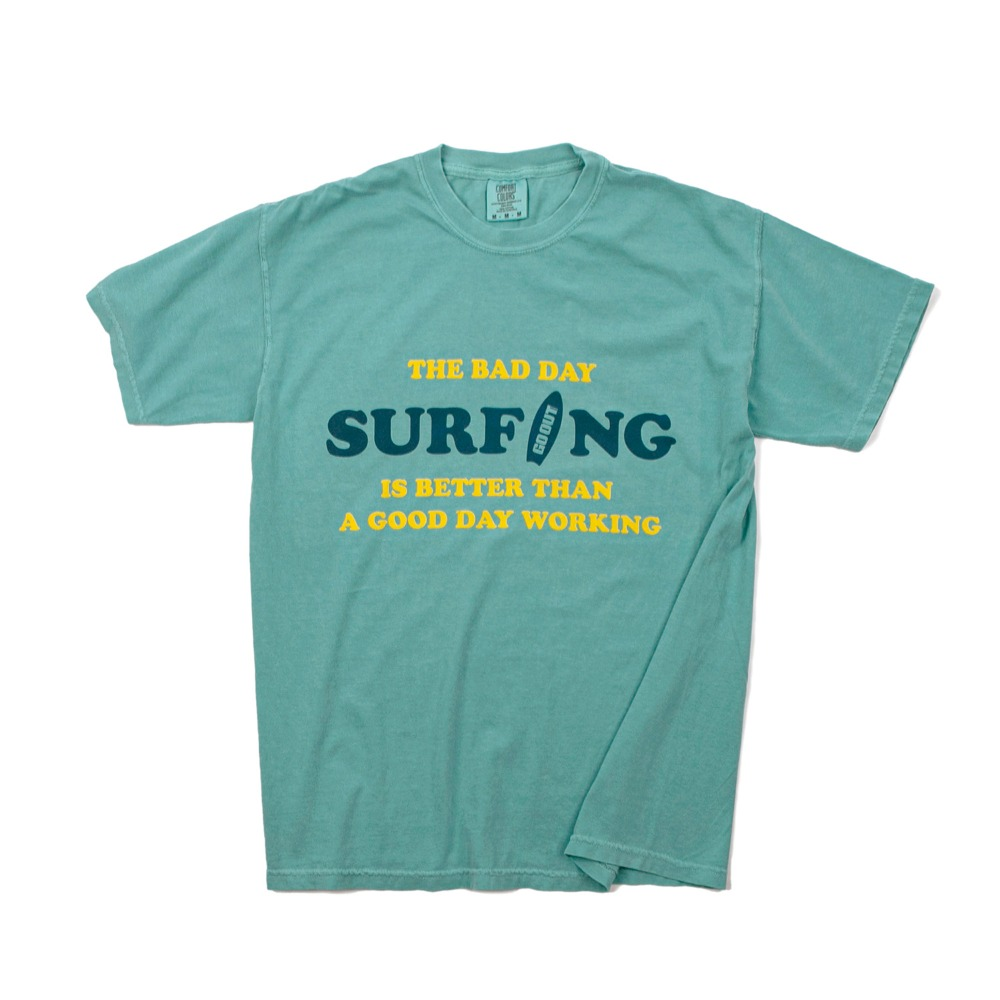 Bad Day SurfingGARMENT DYEING S/S T-Shirts(Sea)