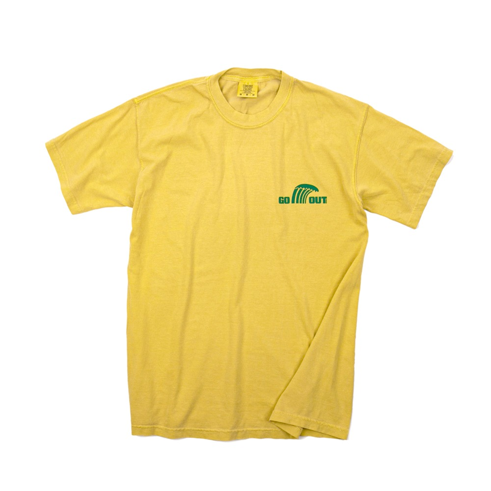 Wave LogoGARMENT DYEING S/S T-Shirts(Mustard) 30% OFF