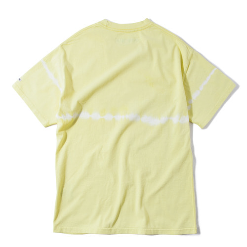 Stripe Tie-dye Crewneck -Yellow-