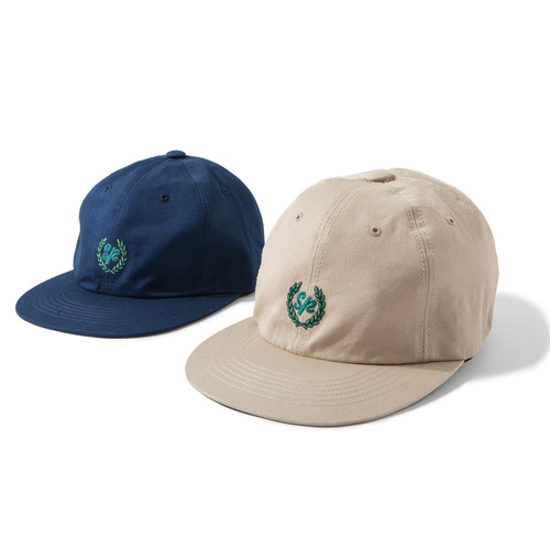 Laurel Wreath 6-Panel Cap -Navy-
