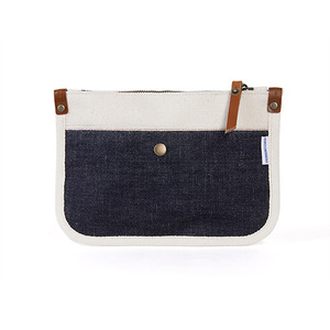 Selvedge pocket clutch small