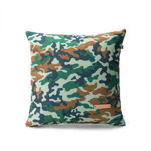Green camouflage cushion