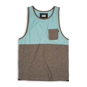 MATIX CROSSBLOCKS TANK KNIT LIGHT BLUE