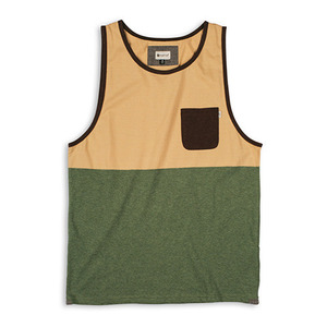 MATIX CROSSBLOCKS TANK KNIT GOLD