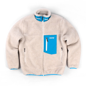 VACAY ORIGINAL IVORY_FLEECE ZIP-UP