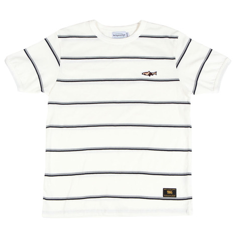 New troutfitter stripe ringer tee(white)