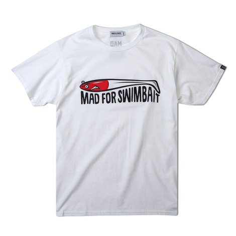 [MAD FOR BASS]Mad for swimbait S/S tshirt(white)