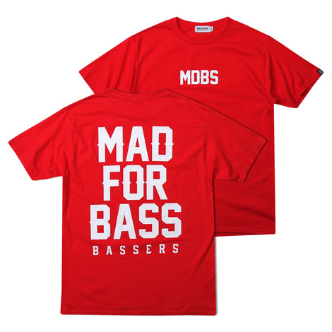 [MAD FOR BASS]Signature S/S tshirt(red)