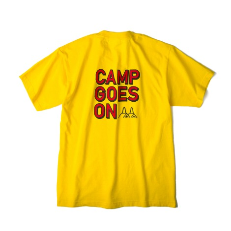 CAMP GOES ONS/S T-Shirts(Yellow) 30% OFF