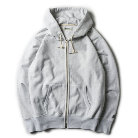 Loose Fit Zip-up Hoody -W.Melange-