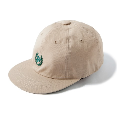 Laurel Wreath 6-Panel Cap -Beige-