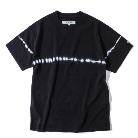 Stripe Tie-dye Crewneck -Black-