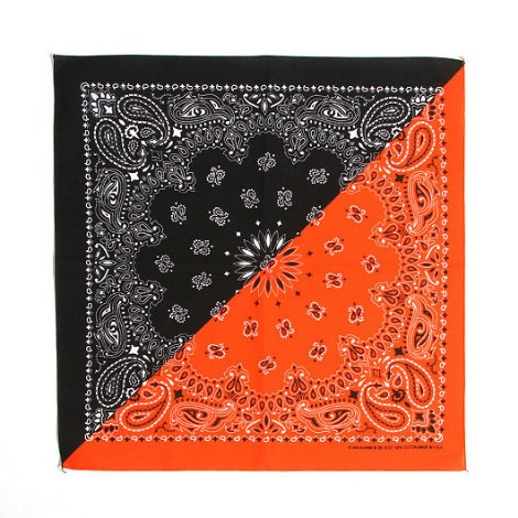 HAV A HANK Splits Bandana Black/Orange