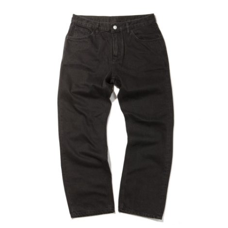 Regular Fit Jeans -Black-