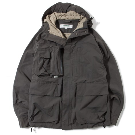 Multi Pocket Mountain Parka -Charcoal Grey-