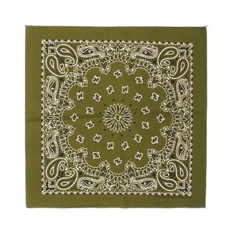 HAV A HANK Traditional Paisleys Bandana Olive