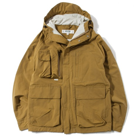 Multi Pocket Mountain Parka -Moss-