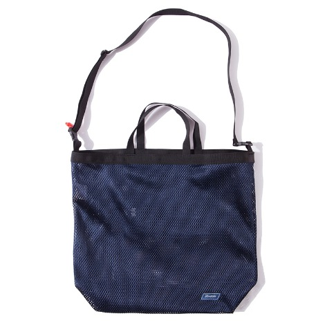 Mesh Cross Bag -Navy-