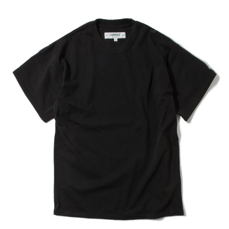 Loose Fit Crewneck -Black-