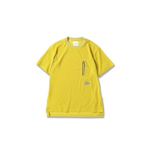 앤드원더 polyester seamless T (YELLOW)
